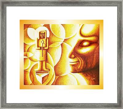Golden Days Of  Atlantis Framed Print by Hartmut Jager