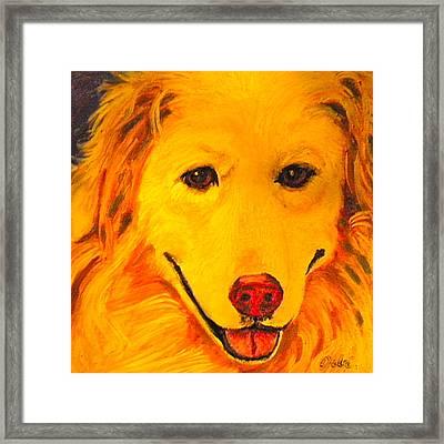 Golden Framed Print by Debi Starr