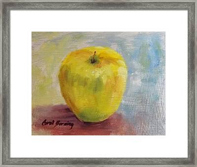 Golden Delicious Framed Print by Carol Berning