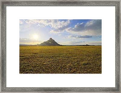 Golden Desert Framed Print by Chad Dutson