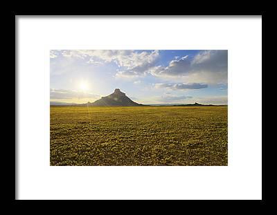 Desert Sunset Framed Prints