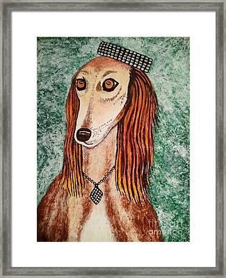 Golden Dog Framed Print by Jasna Gopic