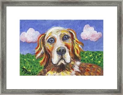 Golden Dog Framed Print by Linda Mears