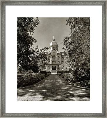 Golden Dome At Notre Dame University Framed Print