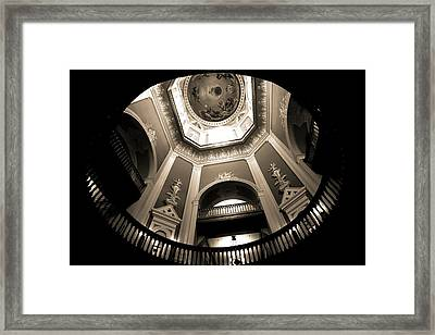 Golden Dome Ceiling Framed Print by Dan Sproul