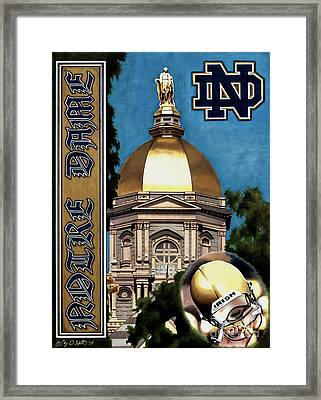 Golden Dome Framed Print