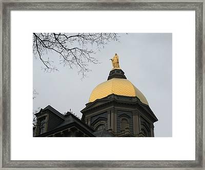 Golden Dome Nd 2 Framed Print