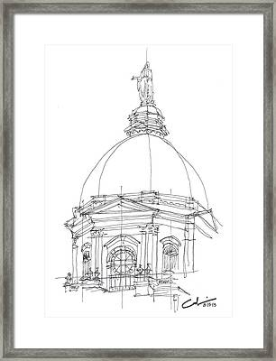 Framed Print featuring the drawing Golden Dome Sketch by Calvin Durham