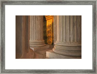 Golden Doors And Columns Of The United Framed Print by Tips Images