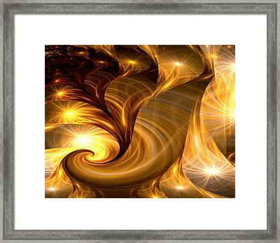 Golden Dreams I Framed Print by Lea Wiggins