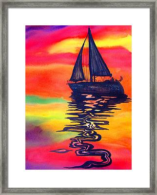 Framed Print featuring the painting Golden Dreams by Lil Taylor
