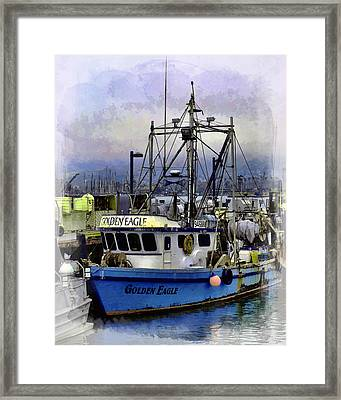 Golden Eagle Fishing Boat Framed Print