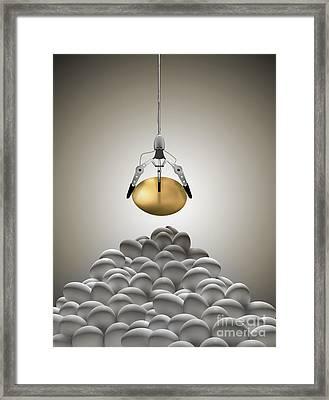 Golden Egg Claw Framed Print