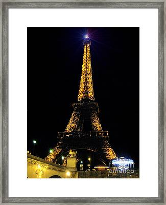 Golden Eiffel Tower  Framed Print by Europe  Travel Gallery