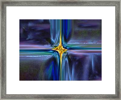 Golden Entity Framed Print