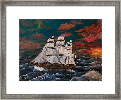 Golden Era Of Sail Framed Print