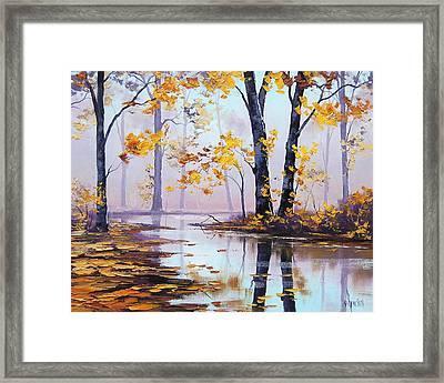 Golden Fall Framed Print