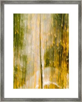Golden Falls  Framed Print