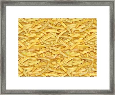 Golden Fries Framed Print