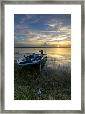 Golden Fishing Hour Framed Print by Debra and Dave Vanderlaan