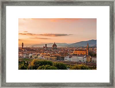 Golden Florence Framed Print