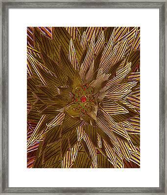 Golden Flower - Ruby Heart Framed Print by Michele Avanti