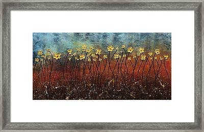 Golden Flowers Framed Print