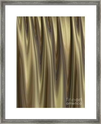 Golden Folds Framed Print by John Edwards
