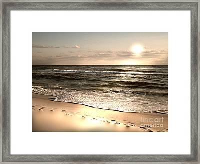 Golden Footprints Framed Print by Jeffery Fagan