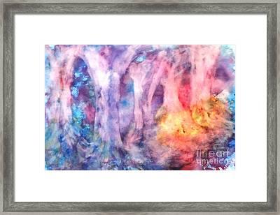 Golden Forest Framed Print