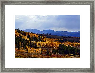 Golden Fourteeners Framed Print