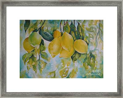 Golden Fruit Framed Print