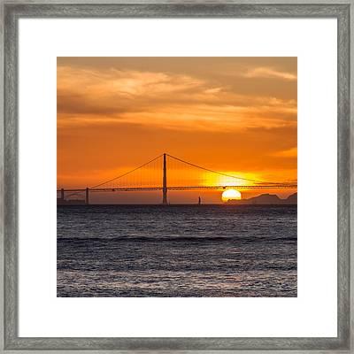 Golden Gate - Last Light Of Day Framed Print