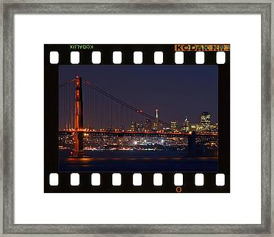 Framed Print featuring the photograph Golden Gate 35mm Frame by Christopher McKenzie