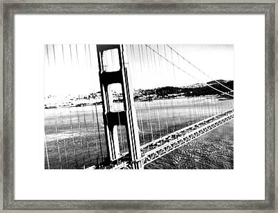 Framed Print featuring the photograph Golden Gate by Amy Giacomelli