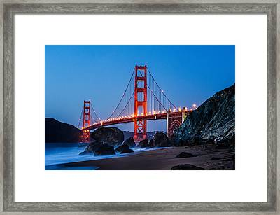 Golden Gate At Twilight Framed Print