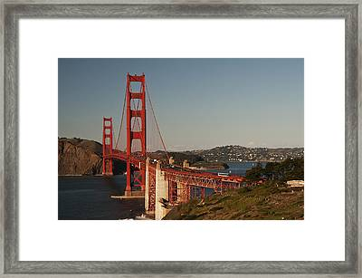 Framed Print featuring the photograph Golden Gate Bridge 2 by Lee Kirchhevel