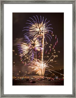 Golden Gate Bridge 75th Anniversary Fireworks 10 Framed Print