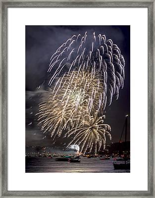 Golden Gate Bridge 75th Anniversary Fireworks 15 Framed Print