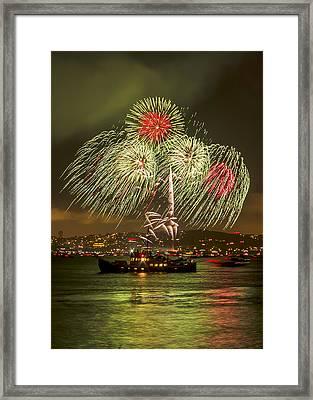 Golden Gate Bridge 75th Anniversary Fireworks 17 Framed Print