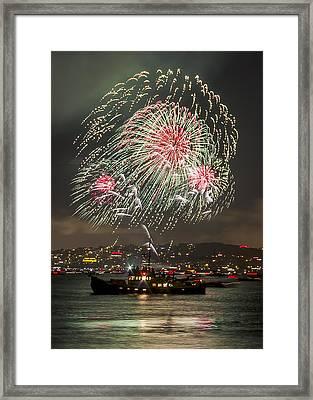 Golden Gate Bridge 75th Anniversary Fireworks 18 Framed Print