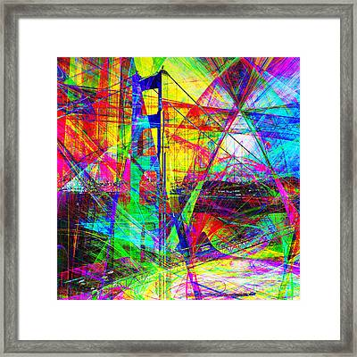 Golden Gate Bridge Abstract 7d14516 Square Framed Print by Wingsdomain Art and Photography