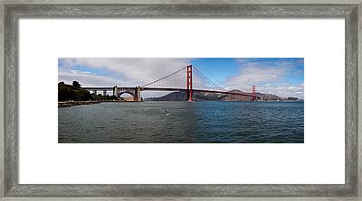 Golden Gate Bridge Across The San Framed Print by Panoramic Images
