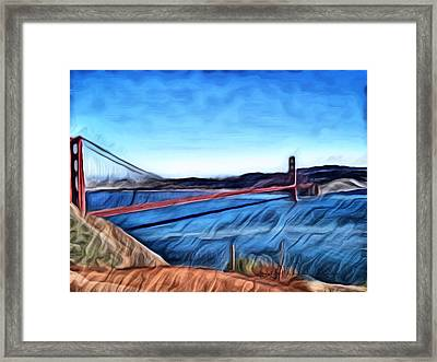 Windy Day At Golden Gate Bridge Framed Print