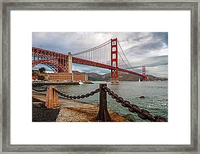 Golden Gate Bridge And Fort Point Framed Print
