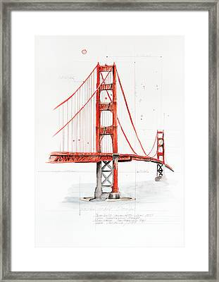 Golden Gate Bridge Framed Print by Astrid Rieger