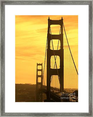 Framed Print featuring the photograph Golden Gate Bridge  by Clare Bevan