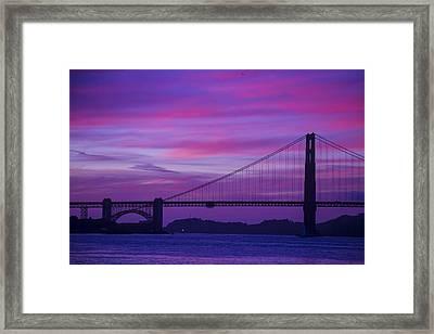 Golden Gate Bridge At Twilight Framed Print by Garry Gay