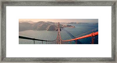 Golden Gate Bridge California Usa Framed Print