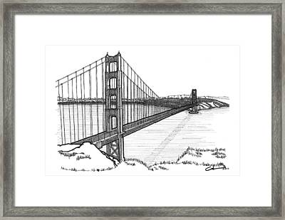 Golden Gate Bridge Framed Print by Calvin Durham